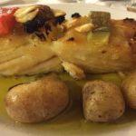 Bacalhau assado batatas a murro